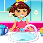 Dora Baby Caring game