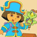 Dora the Pirate Online Coloring Game game