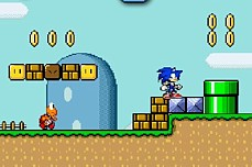 Sonic Lost In Mario World 2 game