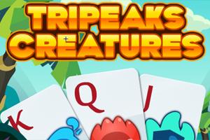 Tripeaks Creatures game